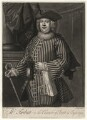 Robert Turbutt as Sosia in 'Amphitryon', by Andrew Miller, after  Thomas Bisse - NPG D4508