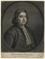 Humphrey Wanley, by and published by John Smith, after  Thomas Hill - NPG D4621