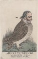 'Absolute wisdom, or Queen's owl. Taken from a wood' (Sir Matthew Wood, 1st Bt), by and published by Richard Dighton - NPG D4902