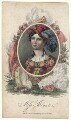 Elizabeth Yates (née Brunton) when Miss Brunton, by James Hopwood Jr, published by  Dean & Munday, after  William Hopwood - NPG D4959