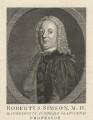 Robert Simson, after William Denune - NPG D5990