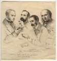 Sir George Scharf and friends, by Sir George Scharf - NPG D6712