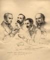 Sir George Scharf and friends, by Sir George Scharf - NPG D6715
