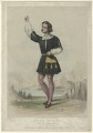 Aloys Ander as Arnoldo in Rossini's 'William Tell', by Edward Morton, after  F. Smallfield - NPG D7010