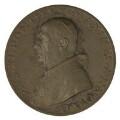Pope Pius XI (Ambrogio Damiano Achille Ratti) (on obverse); Sir Thomas More; John Fisher, by Aurelio Mistruzzi - NPG D7201