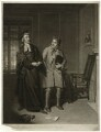 John Bannister as Scout and William Parsons as Sheeplace in 'The Village Lawyer', by John Raphael Smith, after  Samuel De Wilde - NPG D7509