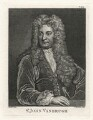 Sir John Vanbrugh, by Thomas Chambers (Chambars), after  Sir Godfrey Kneller, Bt - NPG D7524