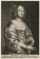 Mary (née Ruthven), Lady van Dyck, by Schelte Bolswert, after  Sir Anthony van Dyck - NPG D7528