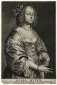 Mary (née Ruthven), Lady van Dyck, by Schelte Bolswert, after  Sir Anthony van Dyck - NPG D7529