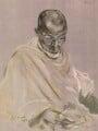 Mahatma Gandhi, after Jacob Kramer - NPG D7574