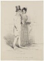 'A Sketch in the Park' (Arthur Wellesley, 1st Duke of Wellington; Harriet Arbuthnot (née Fane)), published by Thomas McLean, after  Unknown artist - NPG D7604