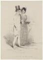 'A Sketch in the Park' (Arthur Wellesley, 1st Duke of Wellington; Harriet Arbuthnot (née Fane)), published by Thomas McLean, after  Unknown artist - NPG D7604