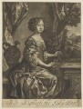 Queen Anne when Princess, published by Richard Tompson, after  Sir Peter Lely - NPG D7779
