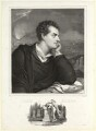George Gordon Byron, 6th Baron Byron, by Nicolas Eustache Maurin, printed by  François Le Villain, after  Richard Westall - NPG D7811