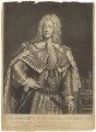 King George II, by John Faber Jr, printed for  Thomas Bowles Jr, printed for  John Bowles, after  Joseph Highmore - NPG D7910