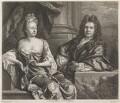 Grinling Gibbons; Elizabeth Gibbons, by and published by John Smith, after  John Closterman - NPG D8230