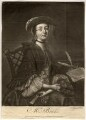 Mrs Brooks, by Charles Spooner, printed for  John Bowles, after  Thomas Worlidge - NPG D824