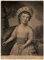 Miss Brockhurst, by Joseph Saunders, after  Mary Benwell (Mrs Code) - NPG D866