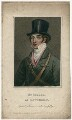 John Isaacs as Hawthorn in Bickerstaff's 'Love in a Village', by James Thomson (Thompson), published by  Simpkin and Marshall, published by  Clement Chapple, after  Thomas Clater - NPG D8690