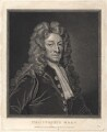 Sir Christopher Wren, by and published by Thomas Holloway, after  Sir Godfrey Kneller, Bt - NPG D8825