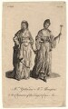 Mary Ann Yates; Frances Abington (née Barton) in the characters of the Tragic and Comic Muses, after Unknown artist - NPG D8956