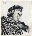 Sir Henry Irving as Thomas à Beckett in 'Becket', by Harry Furniss - NPG D93