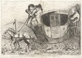 'The Coalition Stagecoach', by James Sayers, published by  Thomas Cornell - NPG D9567