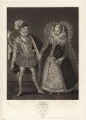 Henry Stuart, Lord Darnley; Mary, Queen of Scots, by Robert Dunkarton, published by  Samuel Woodburn, after  Renold or Reginold Elstrack (Elstracke) - NPG D9708