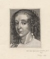 Henrietta Maria, by Wenceslaus Hollar, after  Sir Anthony van Dyck - NPG D9794