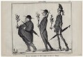 John Bright; Thomas Milner Gibson; Richard Cobden, by Honoré Daumier - NPG D9862