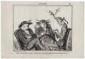 Joseph Sturge; John Bright; Richard Cobden, by Honoré Daumier - NPG D9959