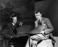 Sir Lennox Randal Francis Berkeley; Benjamin Britten, by Howard Coster - NPG x10470