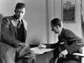 Benjamin Britten; Sir Lennox Randal Francis Berkeley, by Howard Coster - NPG x10472