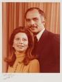 Alia al-Hussein (née Baha Eddin Toukan), Queen of Jordan; Hussein Ibn Talal, King of Jordan, by Anthony Buckley - NPG x76313