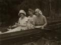 Ivy Tresmand with two friends and dog, by Bassano Ltd - NPG x83500