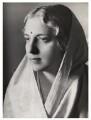 Vijaya Lakshmi Pandit (née Sarup Kumari Nehru), by Bassano Ltd - NPG x84424