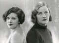 Mary Hermione (née Ormsby-Gore), Lady Mayall; Unity Mitford, by Bassano Ltd - NPG x85666
