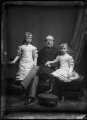 Princess Victoria of Schleswig-Holstein; Prince Christian of Schleswig-Holstein; Princess Marie Louise of Schleswig-Holstein, by Alexander Bassano - NPG x95868
