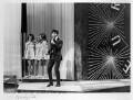 Sir Cliff Richard and 'The Breakaways' (Margo Quantrell; Vicki Haseman; Betty Prescott), by Michael Ward - NPG x88840