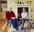 Neil Kinnock; Glenys Kinnock, by Andrew Tift - NPG 6583