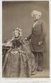 Anna Maria Hall (née Fielding); Samuel Carter Hall, by John & Charles Watkins - NPG x17234
