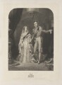 The Bridal Morn (Queen Victoria; Prince Albert of Saxe-Coburg-Gotha), by Samuel William Reynolds Jr, published by  John William Laird, after  Frederick William Lock - NPG D11227