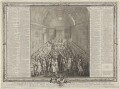 A View of the House of Peers (includes King George II and numerous other sitters), by John Pine - NPG D11093