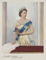 Queen Elizabeth II, by Dorothy Wilding, hand-coloured by  Beatrice Johnson - NPG x44639