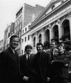 Brian Epstein with The Fourmost (Brian O'Hara; Mike Millward; Dave Lovelady; Billy Hatton), by Lewis Morley - NPG x87101