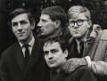 Beyond the Fringe (Peter Edward Cook; Jonathan Miller; Dudley Moore; Alan Bennett), by Lewis Morley - NPG x27384