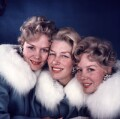 'The Beverley Sisters' (Joy Beverley; Teddie Beverley; Babs Beverley), by David Wedgbury - NPG x76434