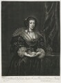 Henrietta Maria, published by Alexander Browne, after  Sir Anthony van Dyck - NPG D11407