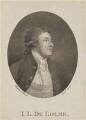 John Louis De Lolme, by James Heath, probably after  Thomas Stothard - NPG D11462