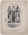 Her Majesty and the Duchess of Kent at the Chapel Royal Windsor, by T.C. Wilson, after  J. Isaac - NPG D11473